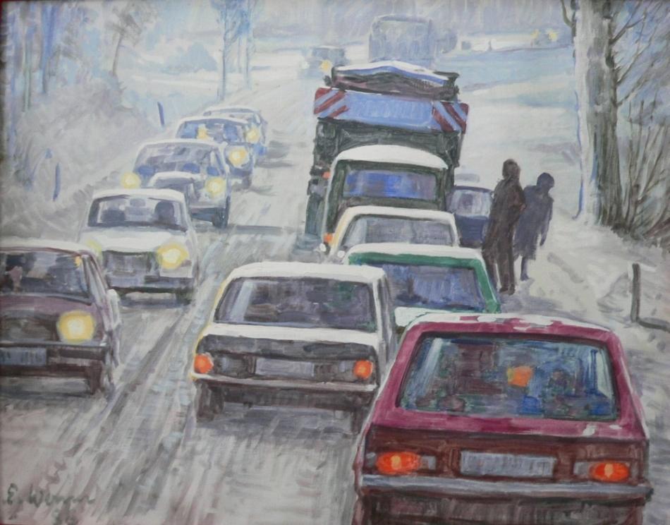 ölverschmutzung im straßenverkehr